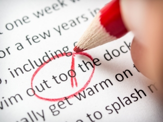 Two to too error found while proofreading paper