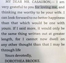 Quote from Middlemarch—picture of Dorothea's entire letter
